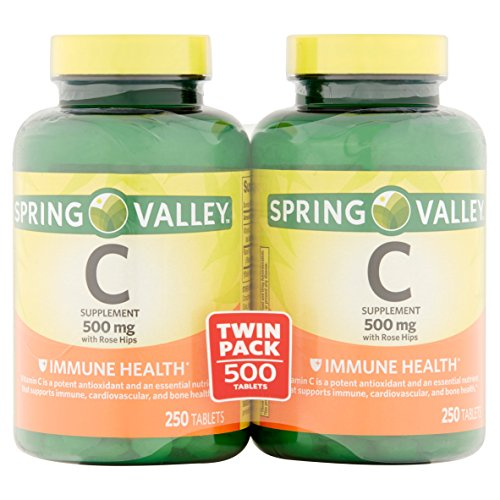 Spring Valley - Vitamin C 500 Milligram with Rose Hips, 500 Tablets