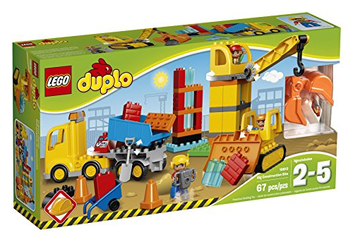 LEGO DUPLO Town Big Construction Site 10813, Preschool, Pre-Kindergarten Large Building Block Toys for Toddlers