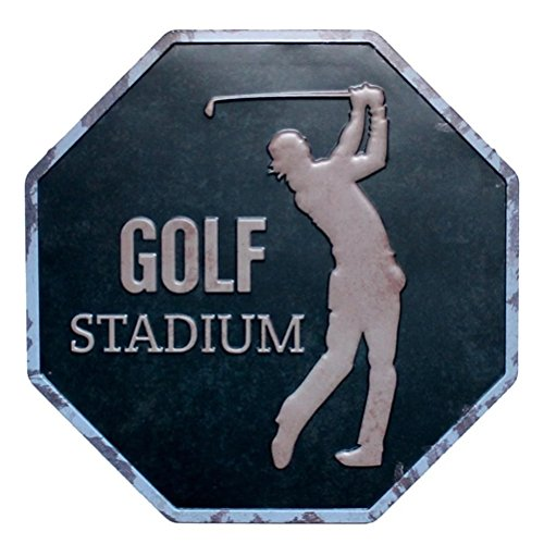 GOLF STADIUM Octagon Metal Painting Retro Wall Sign Pub Bar Store Home Art -