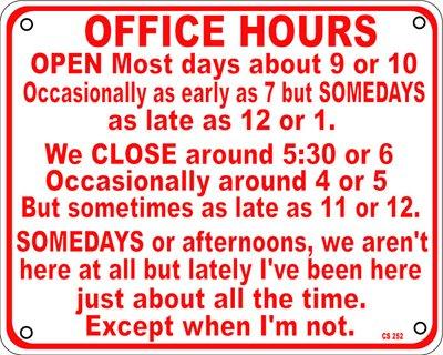 office hours aluminium funny sign amazon co uk kitchen home