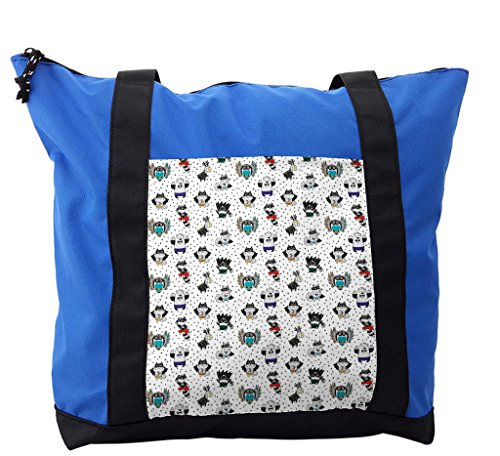 Lunarable Superhero Shoulder Bag, Animals Costumes, Durable with Zipper -