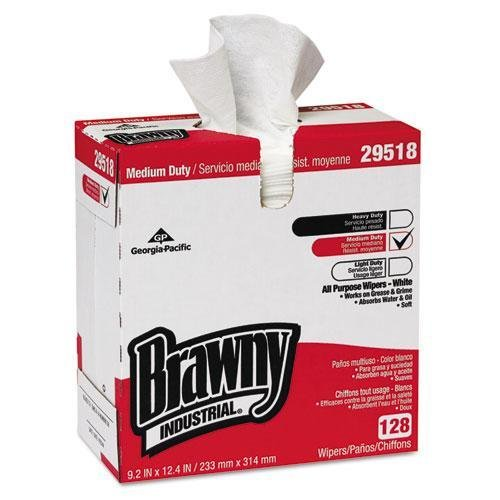 GP PRO Brawny Professional 29518 A300 Disposable Cleaning Towel, Tall Box, White by Brawny Professional