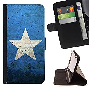 King Air - Premium PU Leather Wallet Case with Card Slots, Cash Compartment and Detachable Wrist Strap FOR Apple Iphone 5C- Super Stars stars