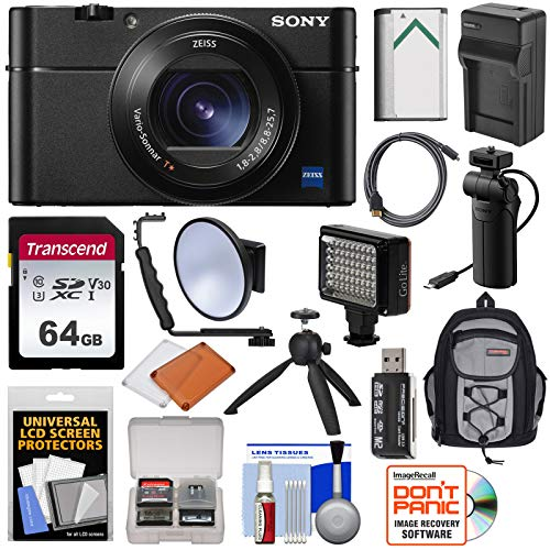 Sony Cyber-Shot DSC-RX100 VA 4K Wi-Fi Digital Camera with VCT-SGR1 Shooting...