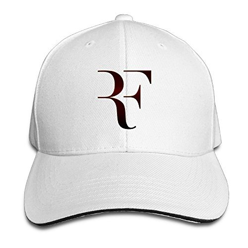Hmkolo Roger Federer Sandwich Baseball Caps For Unisex Adjustable White