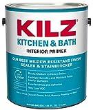 kitchen cabinets paint colors  L204511 Kitchen & Bath Interior Latex Primer/Sealer/Stainblocker with Mildew-Resistant Finish, White, 1-Gallon, 1 Gallon, 4 l