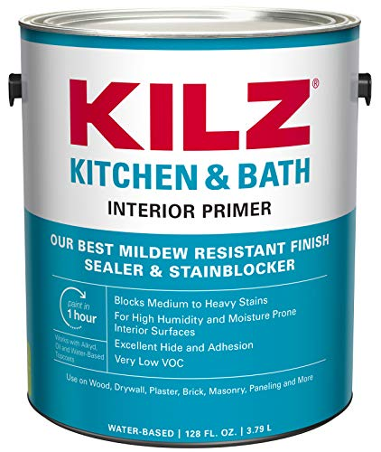 KILZ L204511 Kitchen & Bath Interior Latex Primer/Sealer/Stainblocker with Mildew-Resistant