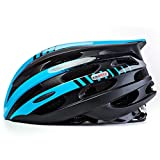 KINGBIKE LiLine Bike Helmets Youth/Adult,with LED Safety Rear Light,27 Ample Vents,Medium Size(Fit 52-59cm) (Black&blue) Review