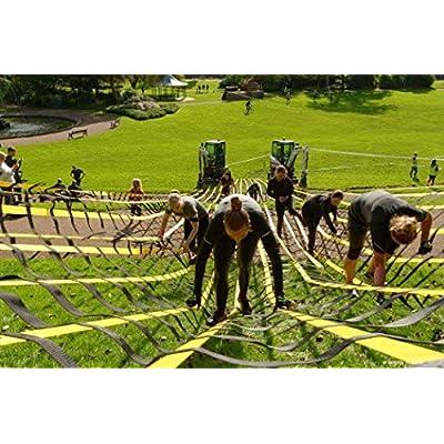 Fong 8 ft X 4 ft Climbing Cargo Net Black (96 inch x 48 inch) - Playground Cargo Net - Climbing Net for Swingset - Indoor Climbing Net - Climbing Ladder: Toys & Games