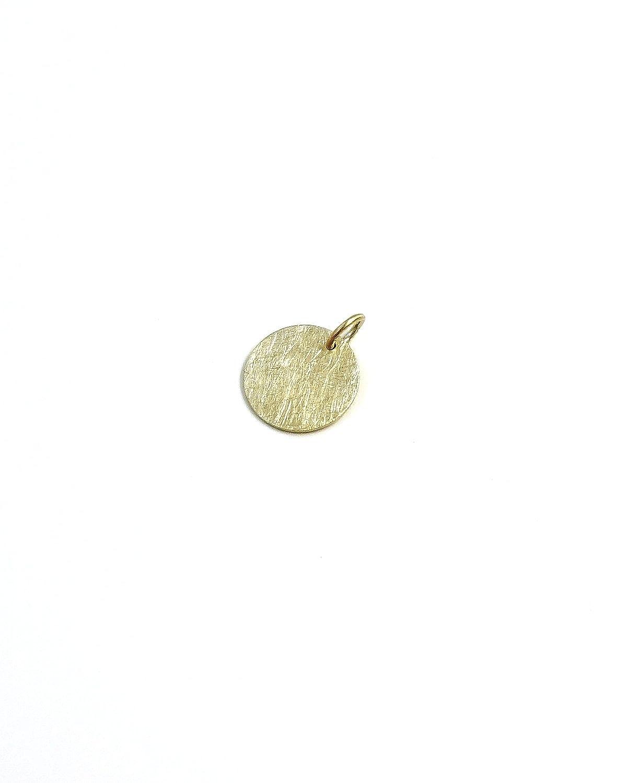 Echt Gold Anh/änger 13mm Eismatt 333//