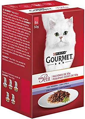 Purina Gourmet Mon Petit comida para gatos Carnes 6 x 50 g: Amazon ...