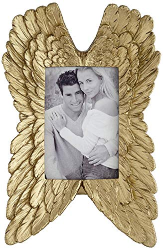 Universal Lighting and Decor Angel Wings Gold 4x6 Photo Frame - Dahlia ()