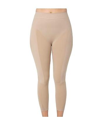 65d7e0f218 Amazon.com  Leonisa Invisible High Waisted Super Comfy Compression Tummy  Control Slimming Capri Shaper Leggings  Clothing