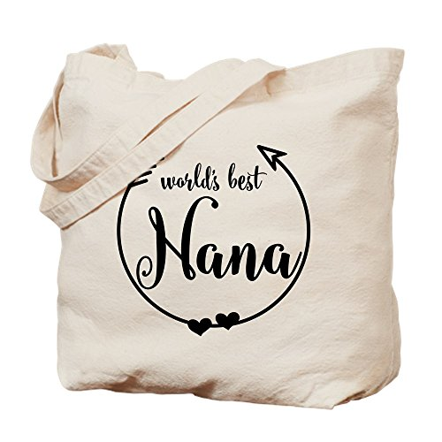 CafePress - World's Best Nana - Natural Canvas Tote Bag, Cloth Shopping Bag