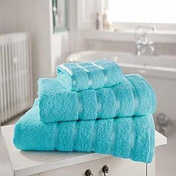 100% toalla Egipto 600 gsm Face algodón servilletas Kensington Stripe, toalla de baño, toalla de baño y toalla de baño, turquesa, Bath Sheet: Amazon.es: ...