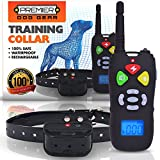 Training Dog Collar - Premier Dog Training Collar with Remote (HUGE 1000+ FT RANGE) - Completely Safe & 100% Weatherproof - Rechargeable Collar and Remote - 3 Adjustable Modes (Shock, Vibration, or Audible)