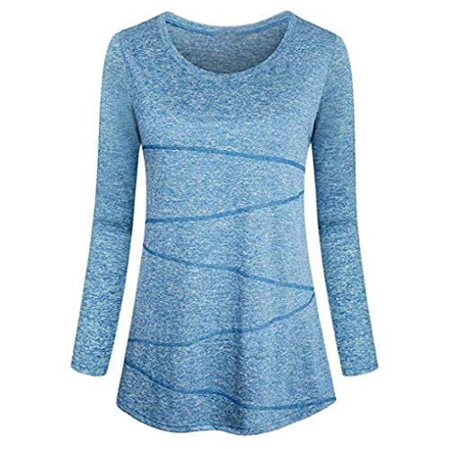 Holywin Chemisier Uni Manches Bleu Longues Femme 0nZR67wqxR