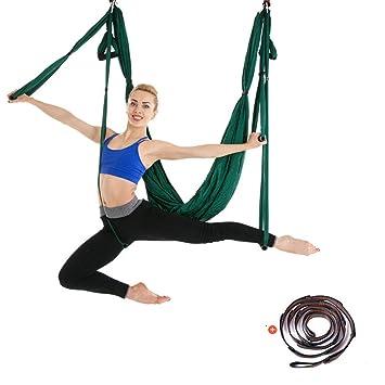 Seda aérea superior Equipo Conjunto de hamaca de yoga aérea ...