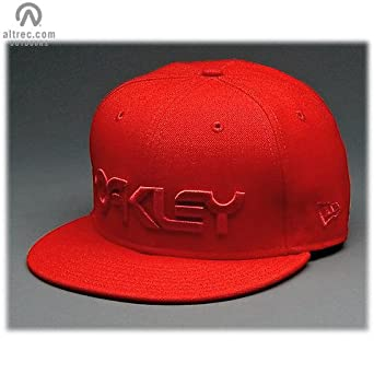 Amazon.com  Oakley Factory New Era Hat Red Line d4f52d9af98