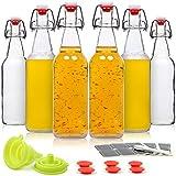 WILLDAN Set of 6-16oz Swing Top Glass Bottles