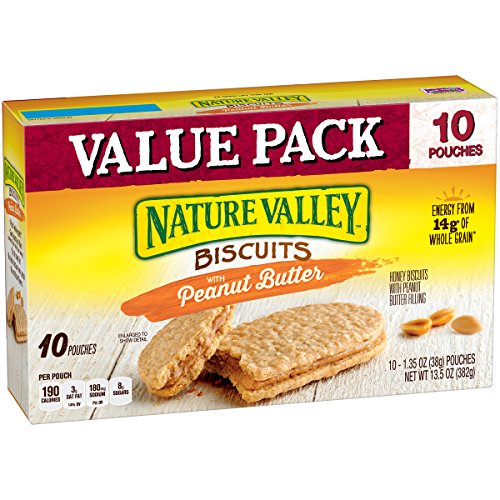 Nature Valley Biscuits 10 Count Box, Peanut Butter, 13.5 - Biscuits Breakfast