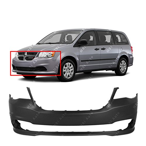 Front Bumper Van Dodge - MBI AUTO - Primered, Front Bumper Cover Fascia for 2011-2015 Dodge Grand Caravan 11-15, CH1000A02