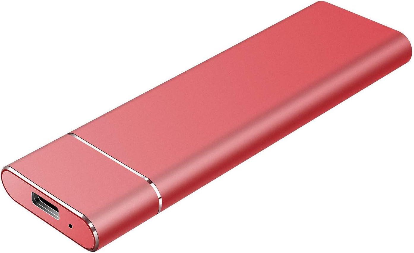Portable External Hard Drive 2TB, Hard Drive External Ultra Slim Portable HDD Type C External USB 3.1 Hard Drive for Mac, PC, Laptop (2TB, Red)