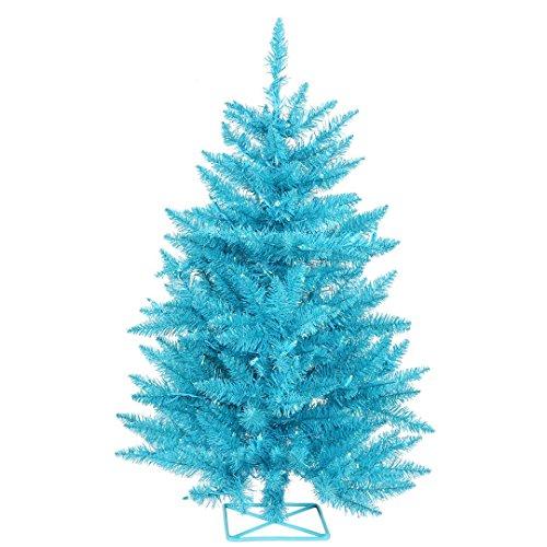Vickerman B986121LED Artificial Christmas Tree with 115 PVC Tips, 35 Dura-Lit Italian LED Mini Lights, 2' x 23