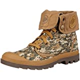 Men's Palladium Baggy Canvas Ankle Boots Casual Camouflage 02353-247