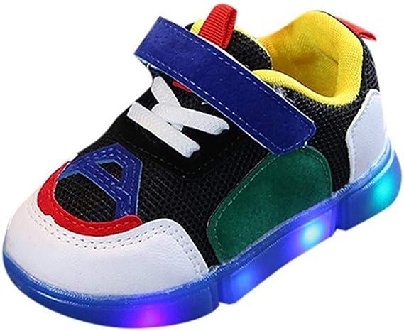 BHJqsy Kinder LED leuchtende Schuhe, Luminous Schuhe