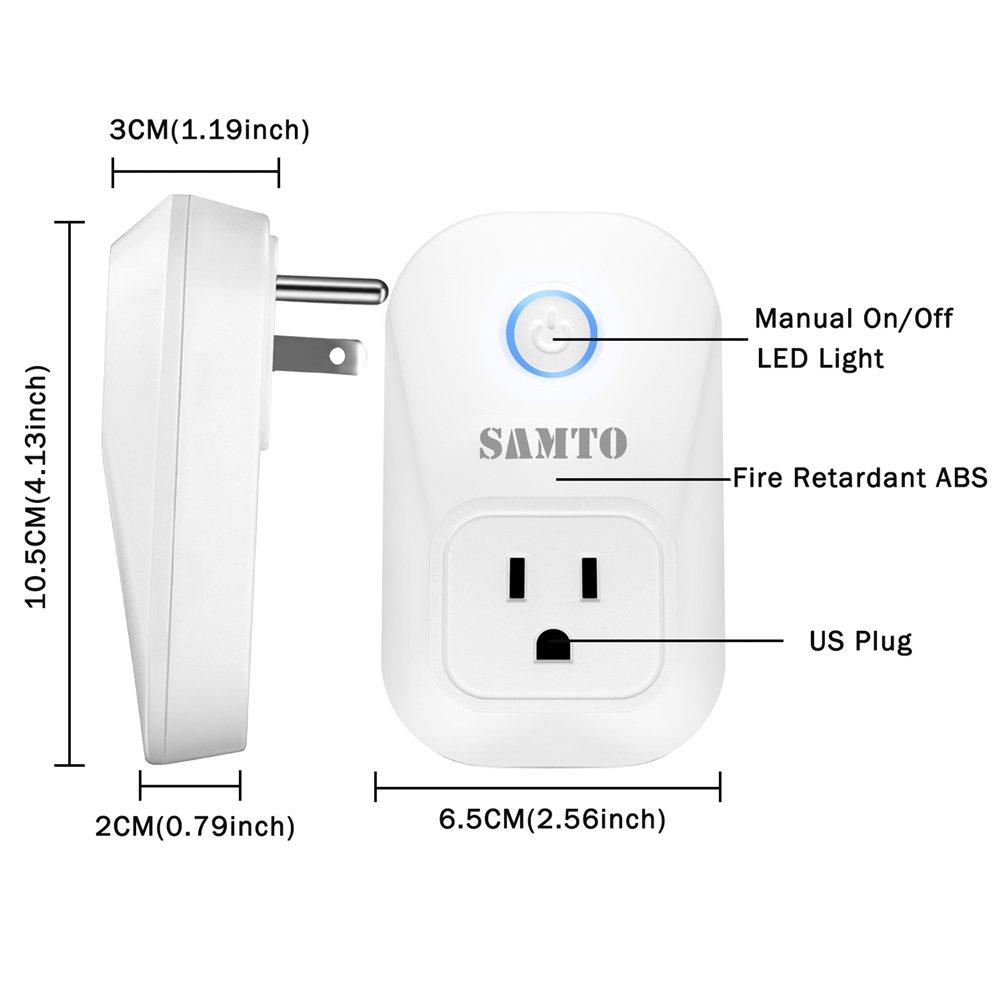 Amazon com: Samto Smart Plug, Wi-Fi Enabled Compatible with
