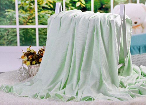 - LAGHCAT Air Conditioning Cool Throw Blankets - Lightweight Bamboo Fiber Knitted Throws Summer Thin Blanket for Couch/Sofa/Bed,Sleeping Cover for Adults Chidren Kids Green - 79