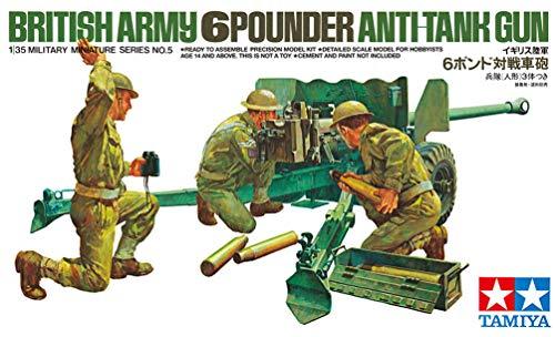 Tamiya British 6-Pound Gun with Crew 1:35 Scale Military Model Kit