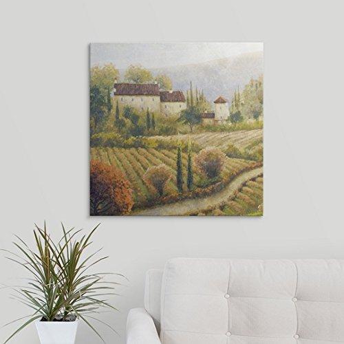 "Michael Marcon Premium Thick-Wrap Canvas Wall Art Print entitled Tuscany Vineyard I 24\""x24\"""