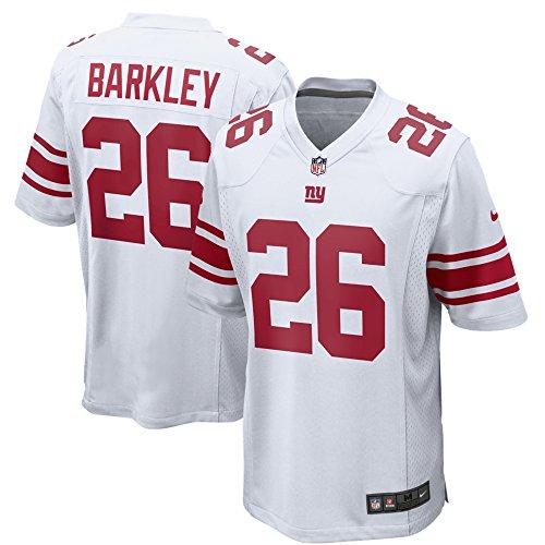 Saquon Barkley New York Giants Nike 2018 Draft Pick White Game Jersey - Men's Large