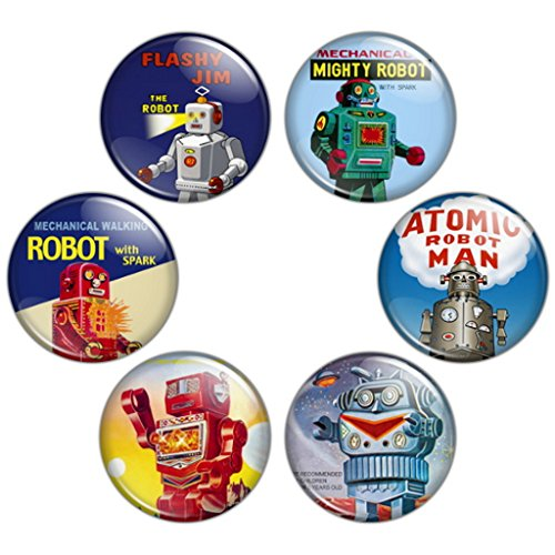 Button Bistro Men's Domo Arigato Mr. Robot 1.25 inch Pinback Button Set Badges