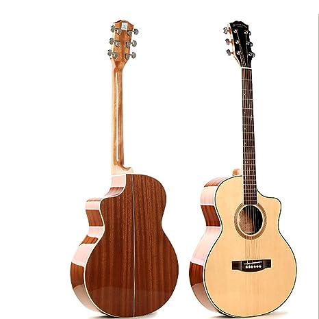 NUYI 39.5 Pulgadas Guitarra Folk Pop Picea Rendimiento De Alta ...