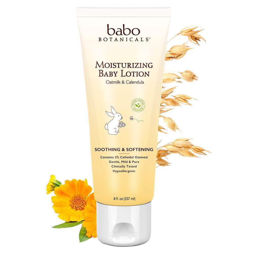 Babo Botanicals Moisturizing Baby Lotion Oatmilk Calendula 8 Ounces BABO-8041