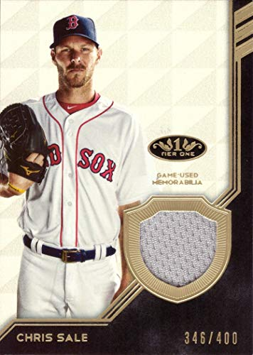 Chris Baseball Sale (2018 Topps Tier One Relics #T1R-CS Chris Sale Game Worn Red Sox Jersey Baseball Card - Only 400 made!)