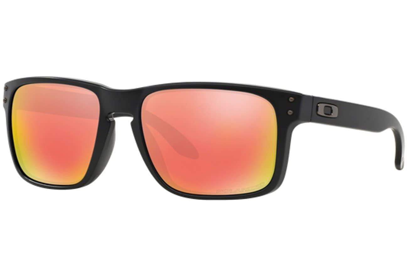9e7c5b00efc Oakley Holbrook Polarized Sunglasses-51 Matte Black Ruby Irid-OS   Amazon.in  Clothing   Accessories