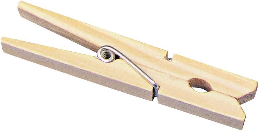 72 mm SB-Btl 24 St/ück Rayher 6131700 Holz-W/Ã/¤scheklammern