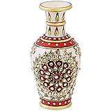 Handicrafts Paradise Marble Flower Vase (7.64 cm x 7.64 cm x 15.29 cm)