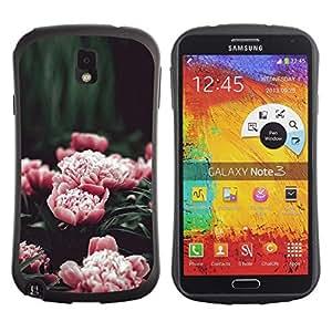"Hypernova Slim Fit Dual Barniz Protector Caso Case Funda Para Samsung Note 3 [Rosa Flores Jardín floreciente""]"