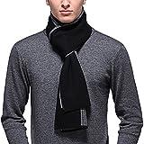 PENAGY Men Winter Warm Fashion Scarves Wool Soft Luxurious Scarf Wraps-15 Colors