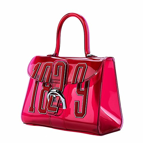 2018 nuevo transparente Retro Antiguo vanos y bolsas de gelatina,Rojo trompeta Rojo Grande
