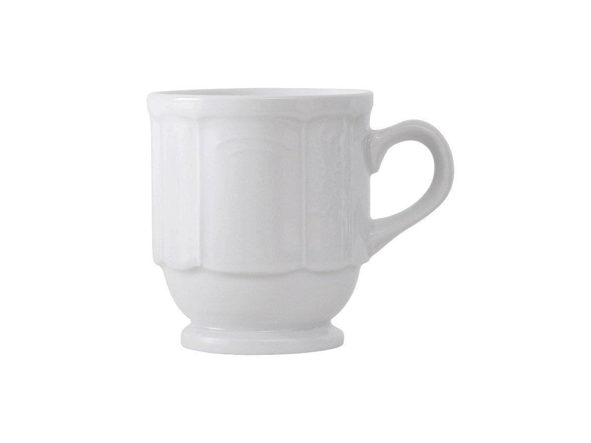 Tuxton CHM-085 Vitrified China Chicago Stackable Mug, 9 oz, Porcelain White (Pack of 36), by Tuxton (Image #1)