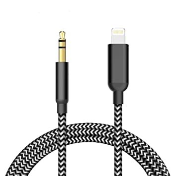 Aux Cable for car,3.5mm Male Aux Audio Cord Car Stereo Cable,Support iOS 12 or Later,Aux Cable Compatible with iPhone XR//XS//XS Max//X//8//8 Plus//7 Plus(Black)