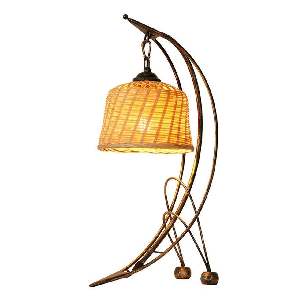 LC-Kwn Wantique古い錬鉄製の卓上スタンドベッドサイド暖かいテーブルランプ人格馬ランプ B07TLLZHLJ