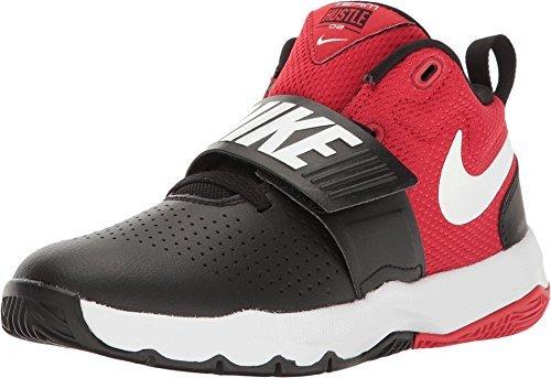 Nike Team Hustle D 8 Black/White-University Red (Little Kid) (12 M US Little Kid)