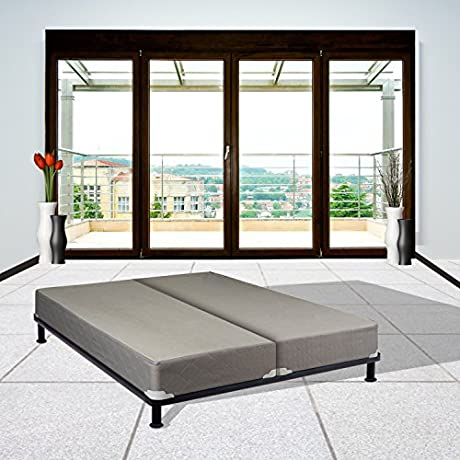 Continental Sleep King Size Fully Assembled Split Box Spring For Mattress Body Rest Collection